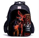 GuiSoHn 16 Inch Anime Five Nights At Freddys Backpack Cartella Borsa da Scuola Casual Studente Zaino