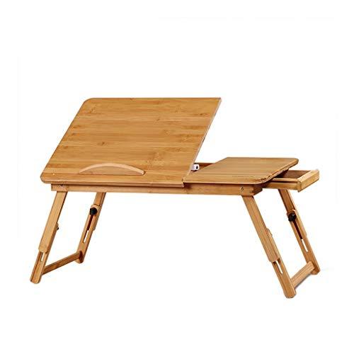 Sgfccyl Massief houten studietafel, laptop-bed-tafeltje, computertafel voor bed, medische tafel, opvouwbare computertafel