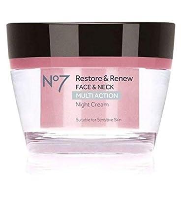 No7 Restore & Renew FACE & NECK MULTI ACTION Night Cream 50ml from