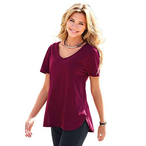 VENCA Camiseta bajo Redondeado Mujer - 015565,Granate,S