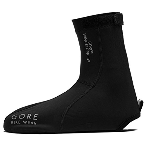 GORE BIKE WEAR Road Light Windstopper - Botin de ciclismo, color negro, talla 39-41