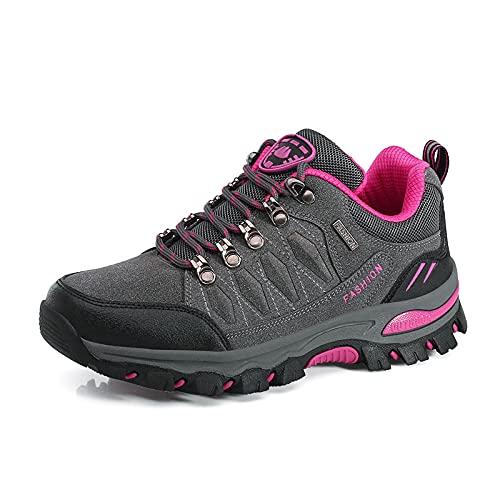 LEMOKIKI Women Outdoor Sports Climbing Hiking Shoes Trekking Sneakers Women's Running Shoes Lightweight Water Resistant Trekking Sneakers (Gray,41)