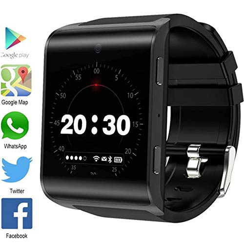 4G Android Smart Watch with Touch Screen Best Fitness Wristband Pedometer Sports Watch and Heart Rate Monitoring Activity Monitor Smart with Sleep Monitoring,001