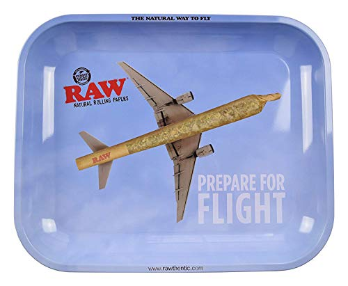 RAW Prepare for Fight - Bandeja de metal para liar cigarrillos (34 x 2
