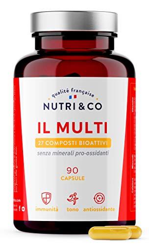 Multivitaminico Multiminerale | 27 Composti Bioattivi | Zinco Magnesio Vitamine A B C D3 E K2 | Minerali Alto Assorbimento | Integratore per Uomo e Donna | 90...