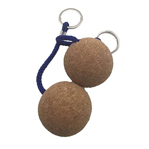 Rongchuang 2X 50 mm Leichter schwimmender Kork-Schlüsselanhänger, schwimmender wasserschwimmender Schlüsselanhänger, runde schwimmende Kork-Kugel-Schlüsselanhänger