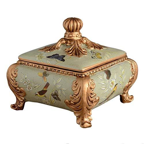 YHGAB Ashtray Amerikaans landelijk retro met deksel creatieve woonkamer salontafel decoraties kamer gepersonaliseerde ornamenten