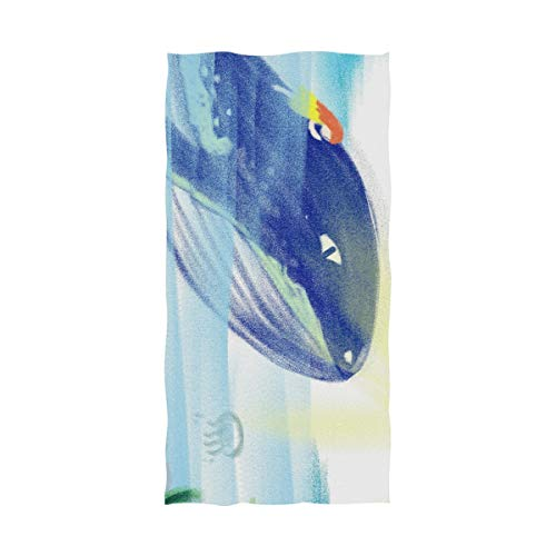 Mr.XZY Toallas de baño Lindo Animal Pintura Q versión Dibujos Animados para Viajes, natación, Barco, baño, Gatos, Parejas Grassland River Toallas Multiusos Toalla de Playa 2010231
