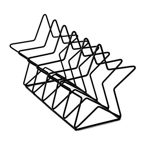 LP Eisen Storage Rack, einfacher Plattenregal Bücherregal Bibliotheks-Leseständer, Büro-Schreibtisch-Magazin Buch Lagerung Buch Stalls (Color : Black)