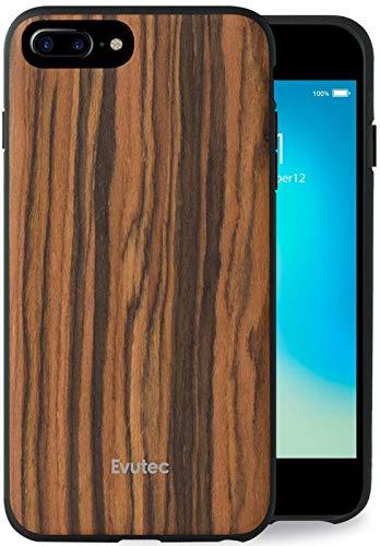 Evutec Case Compatible with iPhone 6 plus/6s plus/7 plus/8 plus, AER Series real wood protective premium phone case for iPhone 8 Plus-Burmese Rosewood (AFIX+ Vent Mount Included)