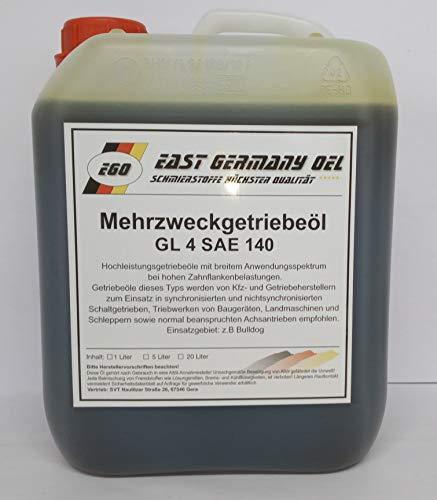 Getriebeöl GL 4 SAE 140 Kanister 5 Liter Inhalt