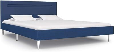 vidaXL Cama tapizada con LED clásica de tela, cama de ...