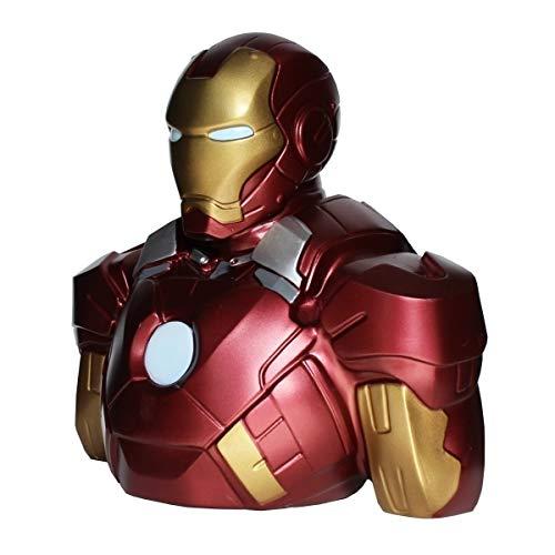 Semic Distribution Marvel DC Tirelire Iron Man Mark VI, BBSM002, No Color, Buste