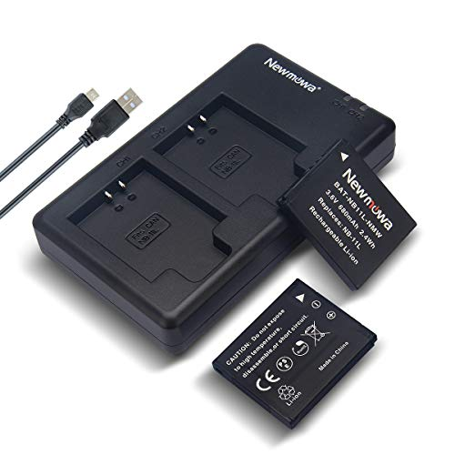 Newmowa NB-11L/11LH Battery (2 Pack) and Dual USB Charger Kit for Canon NB-11L/11LH and Canon PowerShot A2300 is, A2400 is, A2500, A2600, A3400 is, A3500 is, A4000 is, ELPH 110 HS, ELPH 115 HS