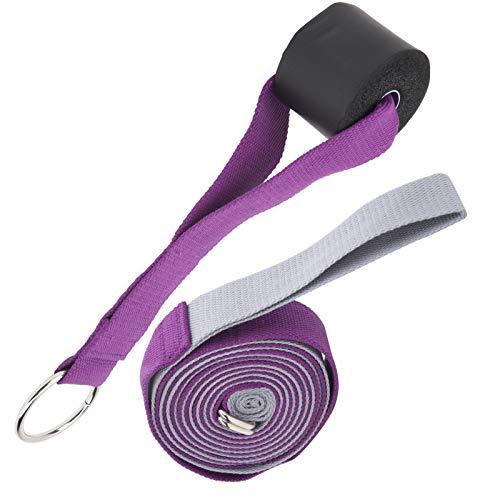 Folany Cinturón de Estiramiento de Danza, Correa de tracción de Danza, Suave y Ligero para Danza Yoga(Grayish Purple)