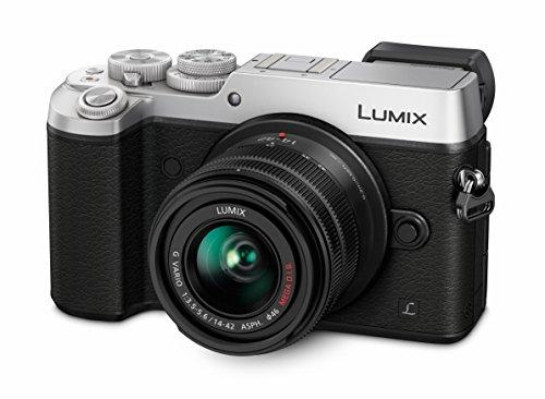 Panasonic LUMIX G DMC-GX8KEG-K Systemkamera (20 Megapixel, Dual I.S. Bildstabilisator, 4K, Staub- / Spritzwasserschutz) mit Objektiv H-FS1442AE schwarz / silber