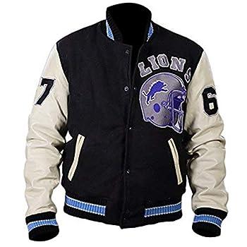 ARSIA Cop Axel Beverly Cotton Fleece Detroit Vintage Letterman Jacket  XXX-Large  Black White
