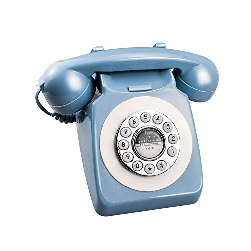 Blauwe retro telefoon Europa Amerika telefoon vast net platenspeler telefoon knop selectie hoteltelefoon voor thuiskantoor en hoteldecoratie