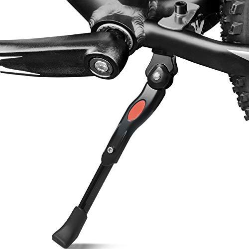 """Cevikno Cavalletto per Bicicletta, Regolabile Alta Qualità Alluminio Lega Cavalletto Laterale, Supporto in Gomma Antiscivolo, per 24""""-27"""" Mountain Bike, Bici da Corsa, Biciclette e Bici Pieghevoli"""