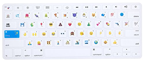 HRH Silicone Keyboard Cover Skin for MacBook Air 13,MacBook Pro 13/15/17 (with or w/Out Retina Display, 2015 or Older Version)&Older iMac USA Layout,Funny Emoji