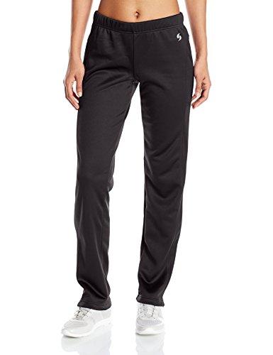 Soffe Women's Juniors Tech Fleece Pant, Black, Small