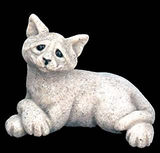 Quarry Critter Cadbury the Cat in Gray, Retired Granite Resin Figurine