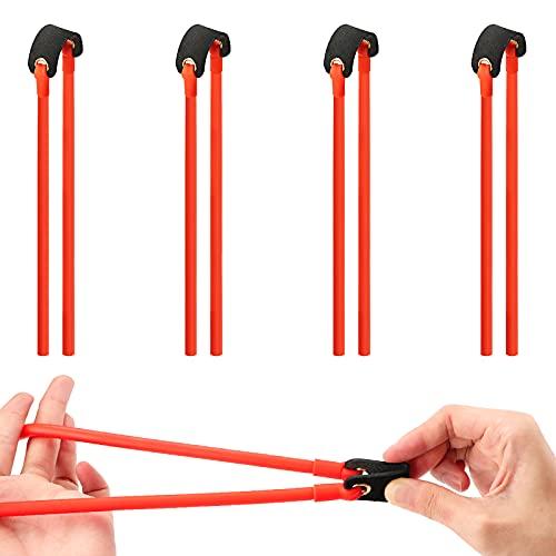 SAVITA 4 Pezzi Fasce Elastiche di Gomma per Fionda Elastico per Fionda per Tiro e Caccia All Aperto (54cm)