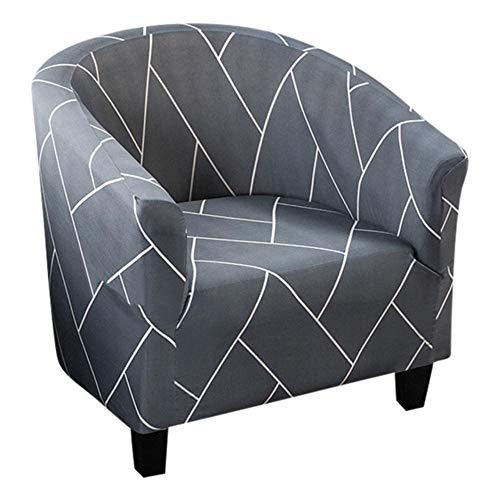 LLAAIT Geometric Elastic Tub Sofa Armchair Seat Cover Chair Protect Case Furniture Printed Sofa Cover Armchair Cover Protector