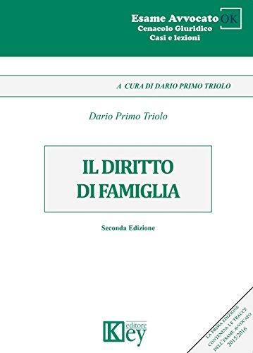 IL DIRITTO DI FAMIGLIA (Cenacolo Giuridico: Casi e Lezioni Vol. 17) (Italian Edition)