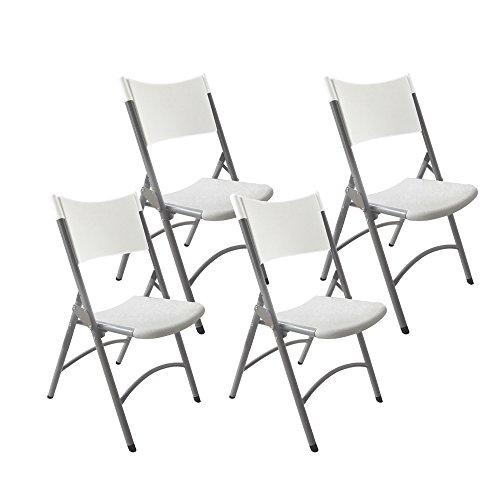 Resol Klaus klapstoelen, kunststof, 46 x 49 x 85 cm, lichtgrijs, 4 stuks