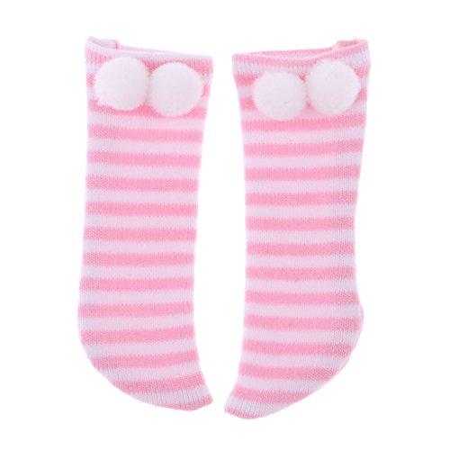 Perfeclan Entzückender Kapuzenmantel / Shorts, Hosen / Gestreifte Socken für 1/6 AS DOC LUTS - Pink