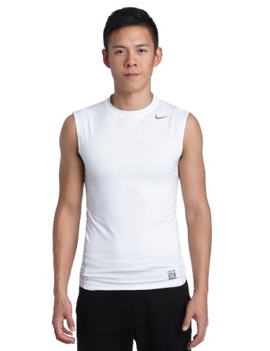 NIKE Sleeveless - Camiseta de Deporte para Hombre, tamaño S, Color Blanco/Gris