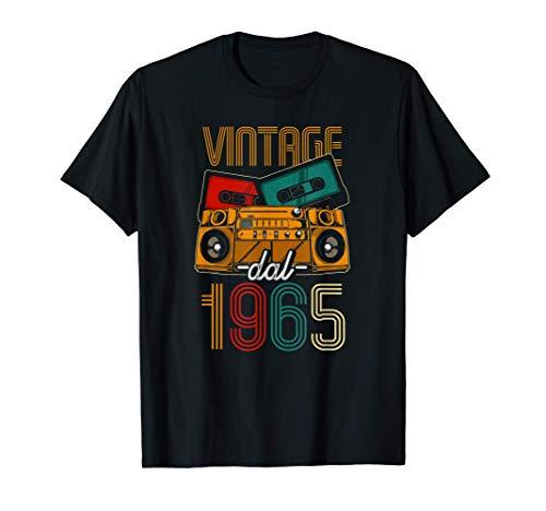 Vintage Dal 1965 Donna Uomo 56 Anni 56 Compleanno Maglietta