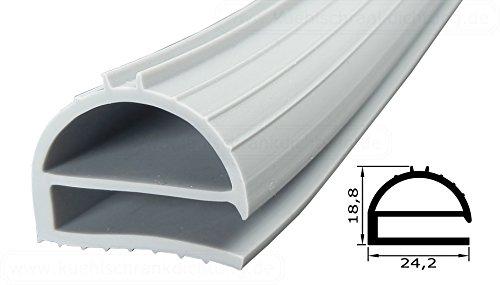 Profielafdichting - profiel 169-2500 mm - kleur: grijs (afdichting koelkast)