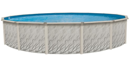 Meadows Reprieve 24' Round AboveGround Swimming Pool|52' Height|Resin Protected Steel-Sided...