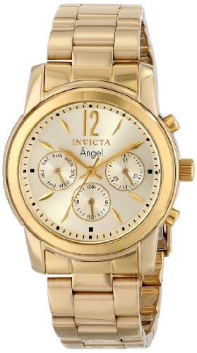 Invicta 12551 Women's Angel Gold Plated Stainless Steel Champagne Dial Swiss Watch