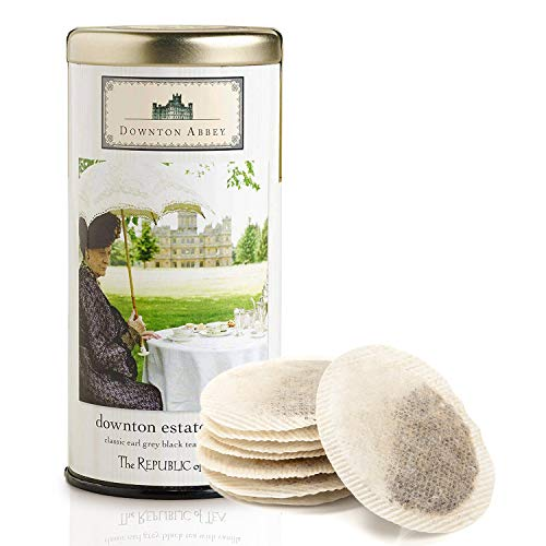 Downtown Abbey Estate Blend Tea - Earl Grey Black Tea with Vanilla, Bergamot, & Orange Oil - Flavored Black Tea Bags - Natural, 0 Calorie - Pack of 36