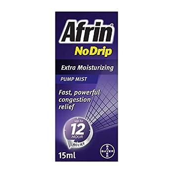 Afrin No Drip Extra Moisturizing 12 Hour Nasal Congestion Relief Pump Mist - 15 mL
