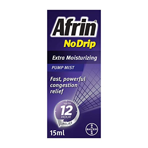 Afrin No Drip Extra Moisturizing 12 Hour Nasal Congestion Relief Pump Mist - 15 mL