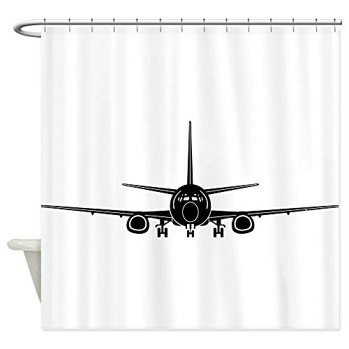 PSB CafePress Airplane Dekorativer Stoff-Duschvorhang