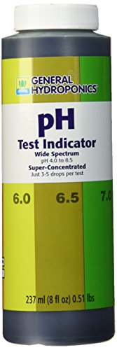 General Hydroponics GH1516 Indicator Fertilizer, 8-Ounce, Purple ph-Test-Strips, Natural