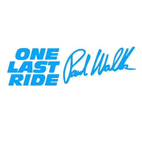 Porfeet Auto Aufkleber, Paul Walker One Last Ride Letters Reflektierende Auto Fahrzeug Aufkleber Aufkleber Dekor rot