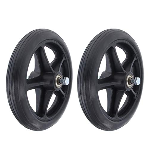 Fenteer 2pcs Wheelchair Front Castor Wheels 7 Inch