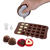 Silicone Macaron Icing Tips, TheBigThumb Decorating Pen Piping Pot with 3 Nozzles Set Home Kitchen Baking Utensils Decorating Tool for Fondant Cake Muffin Cookies Chocolate