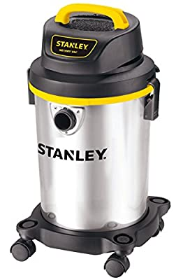 Stanley 4 Gallon Wet Dry Vacuum , 4 Peak HP Stainless Steel 3 in 1 Shop Vac Blower with Powerful Suction, Multifunctional Shop Vacuum W/ 4 Horsepower Motor for Job Site,Garage,Basement,Van,Workshop