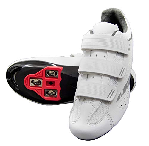 Tommaso Pista Women's Indoor Cycling Ready Cycling Shoe Bundle - White/Silver - Look Delta - 38