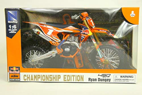 New Ray 49623 - Moto KTM 450 SX-F Factory Racing Team Ryan Dungey Miniature