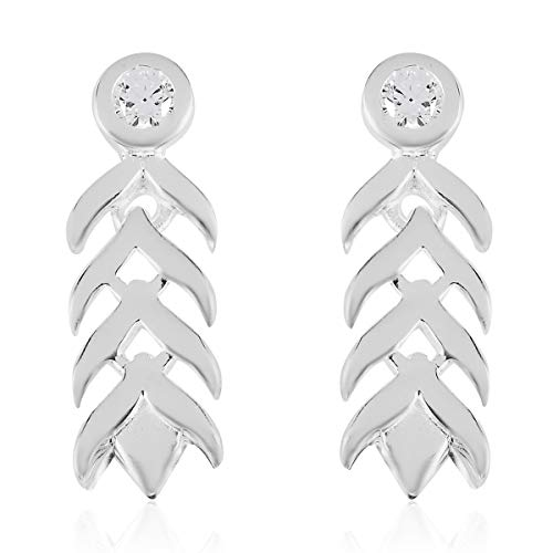 J Francis Drop Dangle Earrings Made with Swarovski Zirconia for Women in 925 Sterling Silver Christmas Gift for Girlfriend, TCW 0.86ct