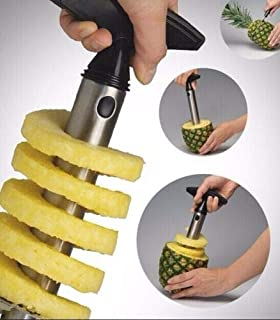 focusepart Easy Gadget Kitchen Fruit Pineapple Corer Slicer Cutter Peeler Stainless Steel