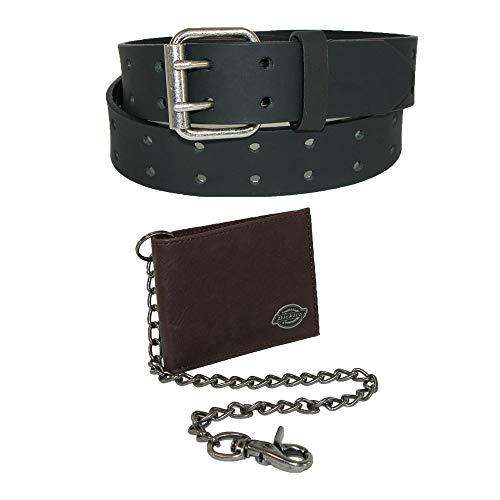 Dickies Portemonnaie aus Leder mit Gürtel für Männer 44 Brown Geldbörse mit dem Black Belt